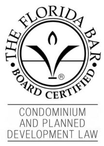 Florida Bar Certified in Condo and Planned Development Law